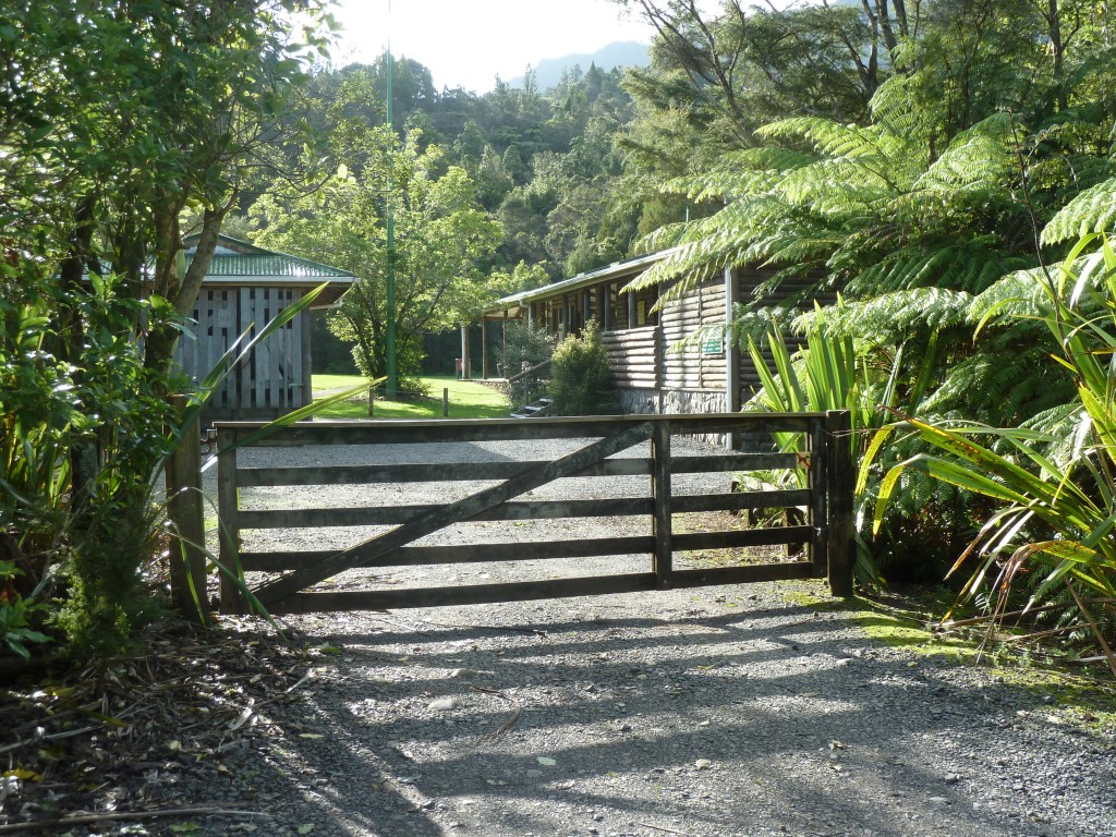 View of Gate and front of Kauaeranga Forest Education Camp